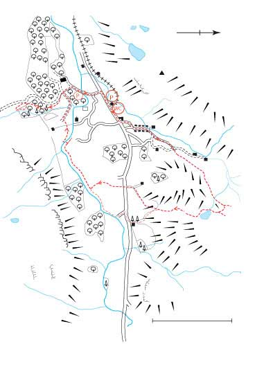 An Ordnance Survey Map of Eskdale Route
