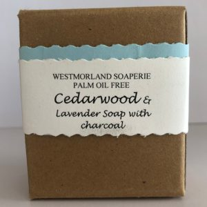 Cedarwood & Lavendar Soap with Charcoal - Palm Oil Free by Westmoorland Soaparie