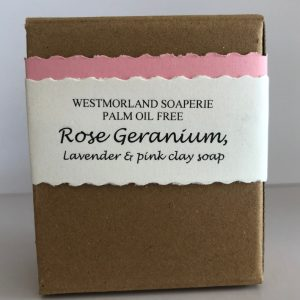 Rose Geranium Lavender & Pink Clay Soap - Palm Oil Free by Westmoorland Soaparie